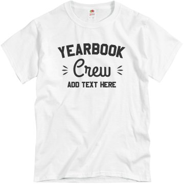 Yearbook Crew 2013 Unisex Gildan Heavy Cotton Crew Neck Tee