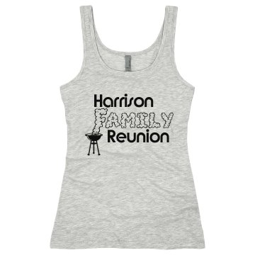 Cookout Family Reunion Junior Fit Soffe 2x1 Rib Tank Top