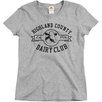 Dairy Club Fair Tee Misses Relaxed Fit Basic Gildan Heavy Cotton Tee