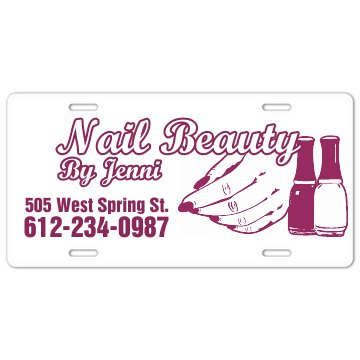 Nail Beauty Plate License Plate