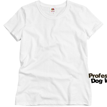 Dog Walker w/ Back Misses Relaxed Fit Basic Gildan Heavy Cotton Tee