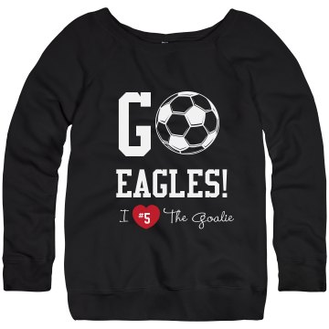 Soccer Fan Sweatshirt Junior Fit Bella Triblend Slouchy Wideneck Sweatshirt