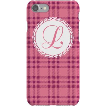 Monogram iPhone Case Plastic iPhone 5 Case White 