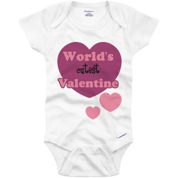 Cutest Valentine Infant Gerber Onesies