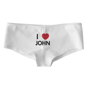 I Heart John Bella Low Rise Thong