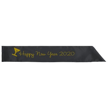 Happy New Year Sash Adult Satin Party Sash