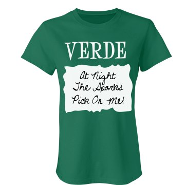 Verde Sauce Packet Costum Junior Fit Bella Crewneck Jersey Tee