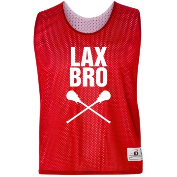 Lax Bro Pinnie Badger Sport Lacrosse Reversible Practice Pinnie