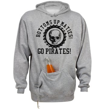 Pirate Tailgating Junior Fit Bella Long Sleeve Crewneck Jersey Tee