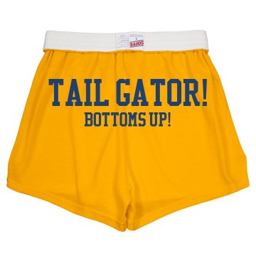 Tailgating Tail Gator Junior Fit Soffe Cheer Shorts