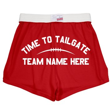 Tailgating Go Team! Junior Fit Soffe Cheer Shorts