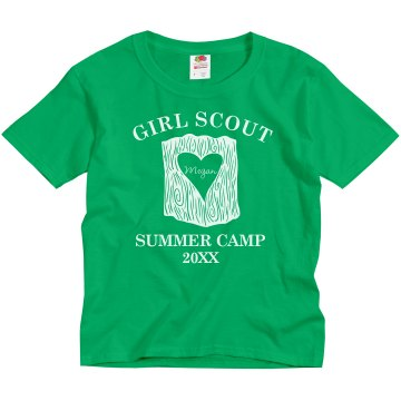 Girls Scout Summer Camp Youth Gildan Ultra Cotton Crew Neck Tee
