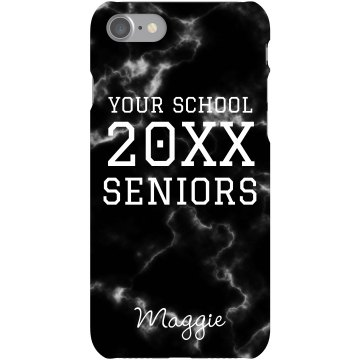 Seniors 2013 Smartphone Plastic iPhone 5 Case Black