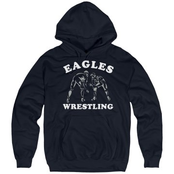 Wrestling Hoodie w&#x2F; Back Unisex Hanes Ultimate Cotton Heavyweight Hoodie