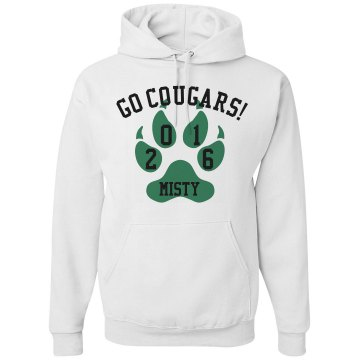 Go Cougars Spirit Seniors Unisex Gildan Heavy Blend Hoodie