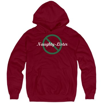 Naughty Lister Hooded Unisex Hanes Ultimate Cotton Heavyweight Hoodie