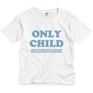 Only Child Blue Youth Bella Girl 1x1 Rib Cap Sleeve Tee
