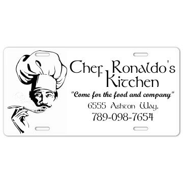 Chef's Kitchen Plate License Plate