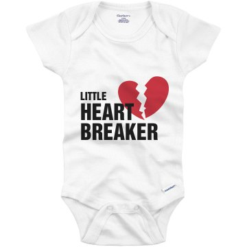 Little Heart Breaker Infant Gerber Onesies