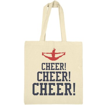 Cheer Cheer Cheer Bag Liberty Bags Canvas Bargain Tote Bag