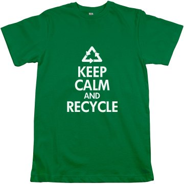 Keep Calm & Recycle Unisex Anvil Organic Tee