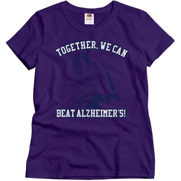 We Can Beat Alzheimer's Misses Relaxed Fit Gildan Ultra Cotton Tee