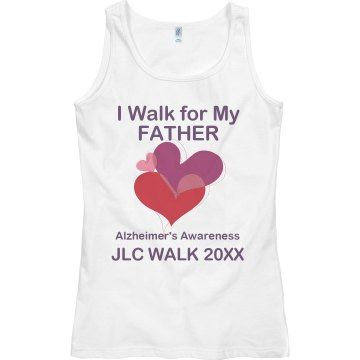 Alzheimer's Walk Tee Junior Fit Bella Sheer Longer Length Rib Tank Top