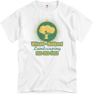 Tree Logo Business Shirt Unisex Basic Gildan Heavy Cotton Crew Neck Tee