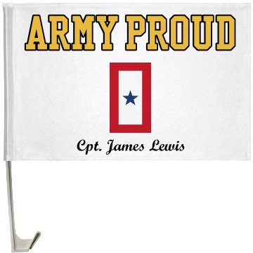 Army Proud Flag One-Sided Driver Side Car Flag