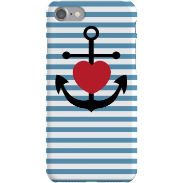 Anchor Heart iPhone 5 Plastic iPhone 5 Case Black