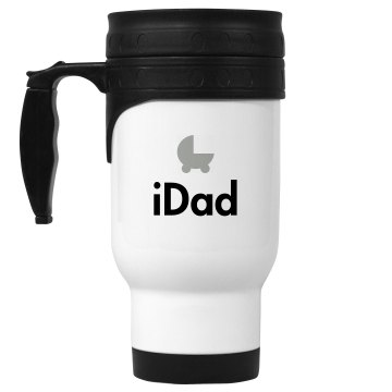 iDad 14oz White Stainless Steel Travel Mug