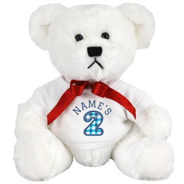 Tyson's 2nd Birthday Medium Plush Teddy Bear