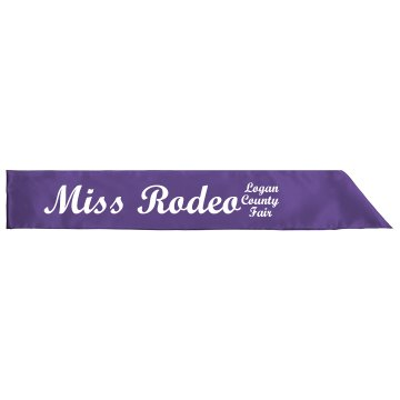 Miss Rodeo Sash Adult Satin Party Sash