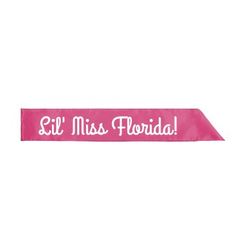 Lil' Miss Florida Pageant Youth Satin Sash