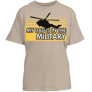 Dad Is In The Military Youth Port & Company Essential Tee