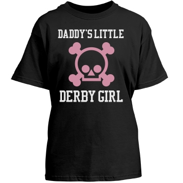 Daddy's Derby Girl Youth Gildan Heavy Cotton Crew Neck Tee