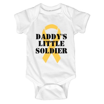 Daddy's Soldier Infant Rabbit Skins Lap Shoulder