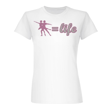 Dance Equals Life Junior Fit Basic Bella Favorite Tee