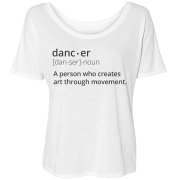 Dancer Definition Bella Flowy Lightweight Simple Tee