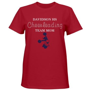 Davidson HS Team Mom Misses Relaxed Fit Port & Company Essential Tee