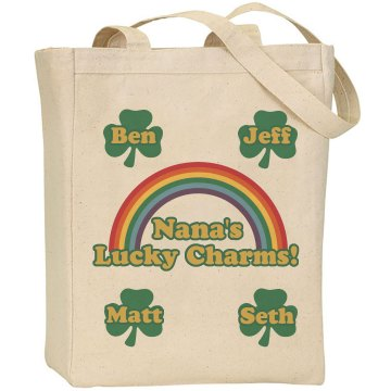 Nana's Lil' Lucky Charms Liberty Bags Canvas Tote