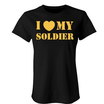 Military wife Junior Fit Bella Sheer Longer Length Rib Tee