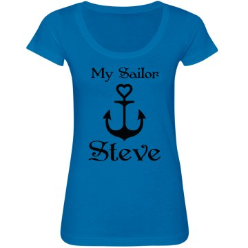 My Sailor Junior Fit Bella Sheer Longer Length Scoopneck Tee