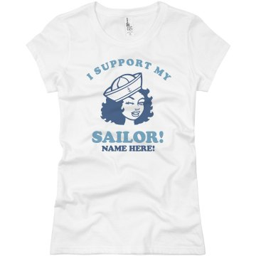 My Sailor Junior Fit Bella Sheer Longer Length Rib Tee
