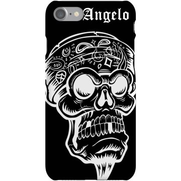 Angelo's Skull iPhone Plastic iPhone 5 Case Black