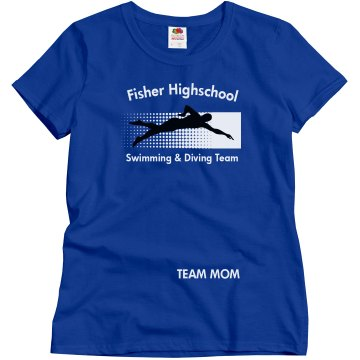 Fisher HS Team Mom Misses Relaxed Fit Gildan Ultra Cotton Tee