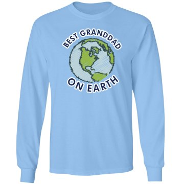 Best Granddad On Earth Unisex Gildan Ultra Cotton Long Sleeve Tee