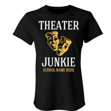 Theater Chick Junior Fit Bella Sheer Longer Length Rib Tee