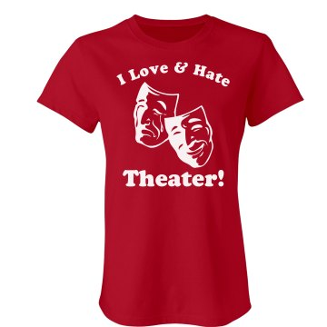 Love and Hate Theater Junior Fit Bella Sheer Longer Length Rib Tee