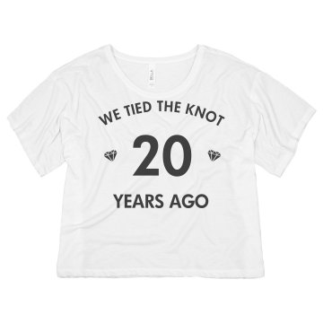 20 Year Anniversary  Junior Fit Basic Bella Favorite Tee